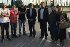 رابینسون و کروزو از تبریز به بوسنی رسید/ دیدار رایزن فرهنگی ایران در بوسنی با اعضای گروه نمایش آینا