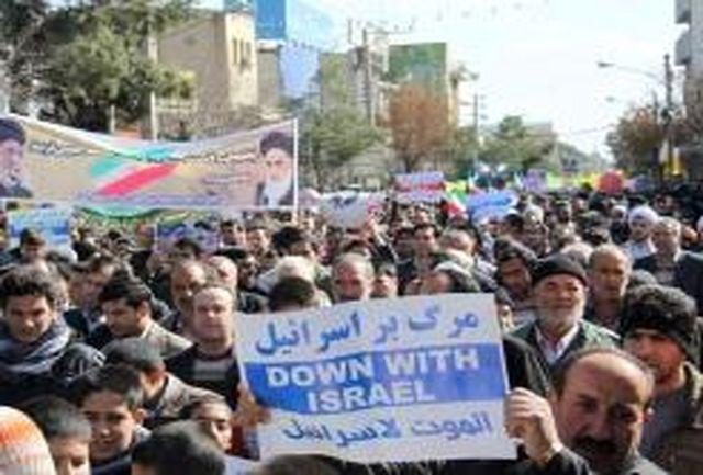 فریاد مرگ بر اسرائیل در 120 نقطه استان فارس طنین انذاز شد
