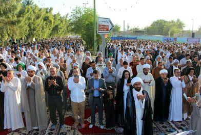 اقامه نماز عید فطر در هویزه