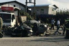 تصادف مرگبار در محور ساری به لاریم جویبـار!