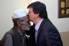 احمدی معاون وزارت ورزش و جوانان با خانواده شهید راشکی دیدار کرد+عکس