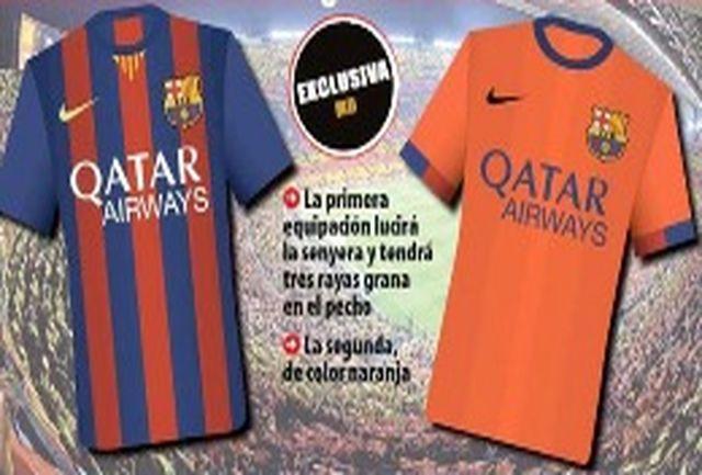 رونمایی از پیراهنهای فصل آینده بارسلونا