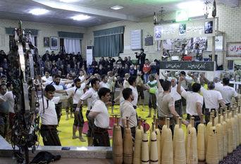 مراسم ورزش های زورخانه ای به همت هیات های مذهبی و حسینی-همدان