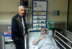 عیادت سرمربی و بازیکنان نساجی مازندران از خبرنگار و عکاس قائمشهری