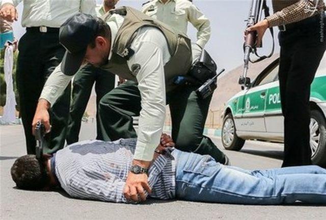 سارق مسلح بانک در قزوین دستگیر شد