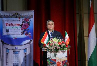 سخنرانی نخست وزیر مجارستان در دانشگاه علوم پزشکی