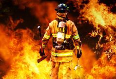 آتش سوزی گسترده در انبار لاستیک