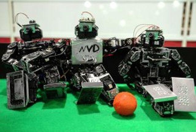 نتایج مسابقات لیگ ربات فوتبالیست سایز کوچک