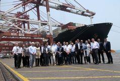 بازدید مدیران و فعالان صنایع دریایی کشور آلمان از بندر شهید رجایی