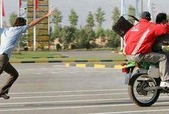جولان دزدان موتورسوار در حضور نیروی انتظامی