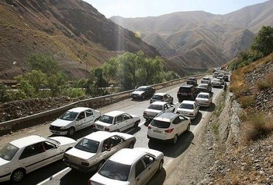 بارش پراکنده باران در مازندران/ ترافیک نیمه سنگین در مسیر جنوب به شمال هراز