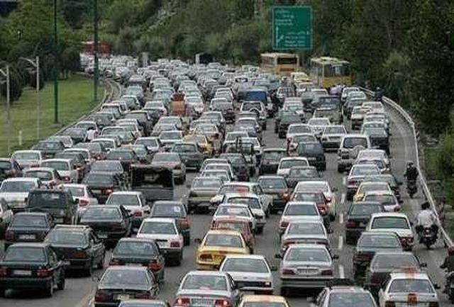 ترافیک سنگین در استان البرز