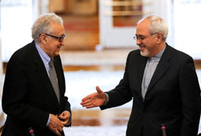 ظریف و اخضر ابراهیمی تحولات سوریه را بررسی کردند