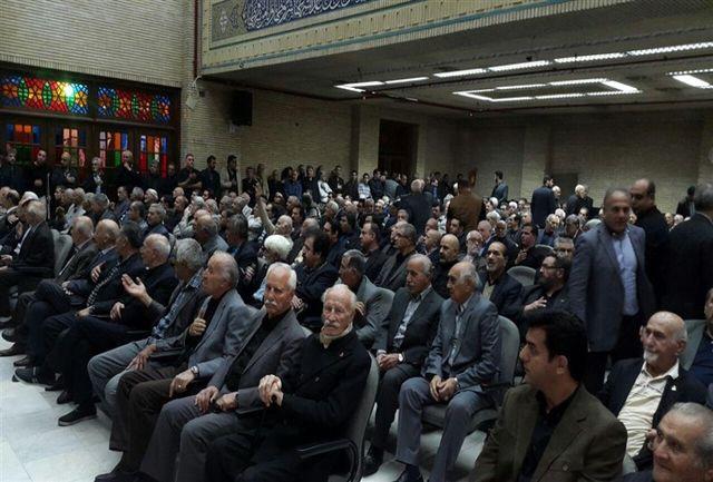 مراسم ترحیم زنده یاد عباس زندی برگزار شد