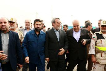 بازدید وزیر کشور از پایانه مرزی شلمچه