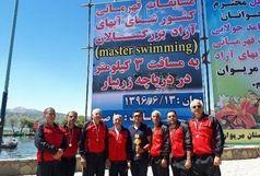 کسب جایگاه سوم اصفهان در مسابقات آبهای آزاد مریوان
