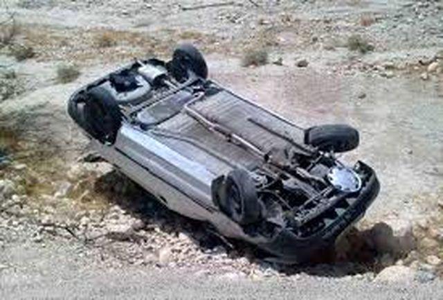 1 کشته و 10 مجروح در واژگونی خودرو محور ایرانشهر-راسک