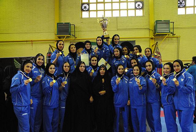 تیم دانشگاه آزاد در مسابقات سوپرلیگ کاراته کشور قهرمان شد