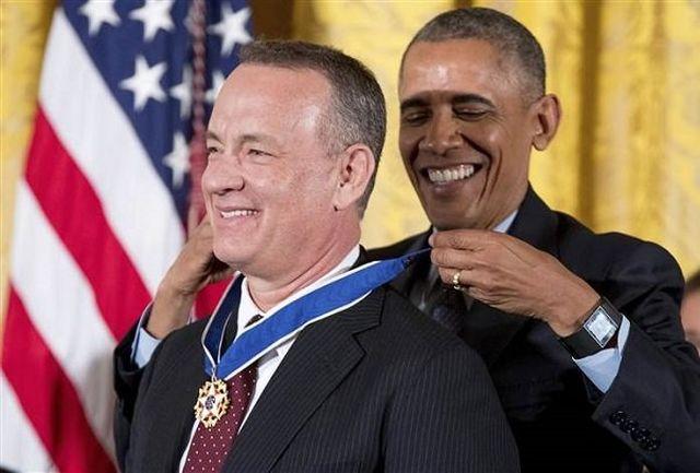 هالیوودیها از اوباما مدال گرفتند/ اسم و عکاسی افراد