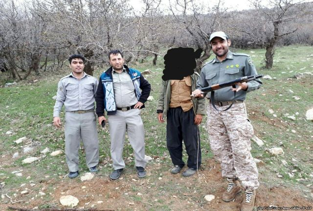 دستگیری یک شکارچی قبل از اقدام به شکار