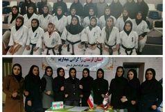 متارخ خرم آباد قهرمان دور رفت  لیگ سبک های آزاد کاراته بانوان لرستان