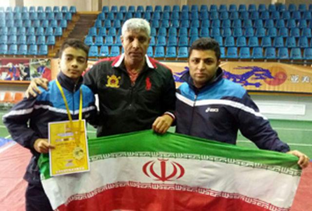 کسب نشان طلا در مسابقات بین المللی ووشو ارمنستان