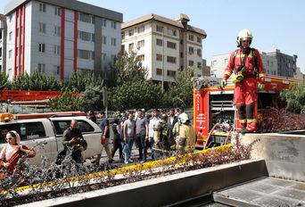 آتش سوزی در پاساژ کوروش تهران