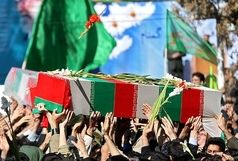 تشییع پیکر 23 شهید گمنام دفاع مقدس در استان فارس