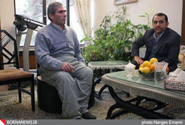 عیادت ساور از قهرمان اسبق وزنهبرداری آسیا