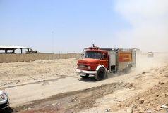 مهارکامل آتش سوزی در مناطق مرزی