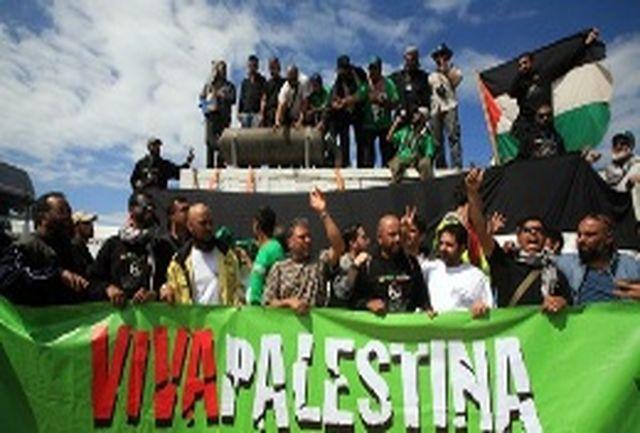 کاروان شکست حصر غزه در انتظار ورود به مصر