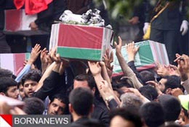 تحویل پیکر شهدای حمله تروریستی حرم و مجلس به معراج شهدا