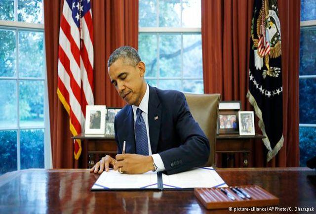 اوباما طرح تمدید تحریمهای ایران را امضا میکند