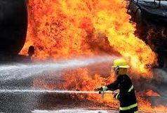 مصدومیت 4 آتشنشان در روند اطفای حریق کارخانه شهرک شکوهیه