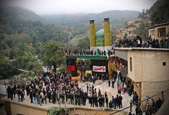 مراسم علم بندان در شهر تاریخی ماسوله