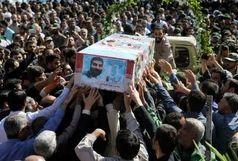 پیکر پاک شهید مدافع حرم ، علیرضا قبادی در کرج آرام گرفت