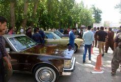برگزاری چهارمین همایش خودروهای کلاسیک کردستان در شهرستان سقز