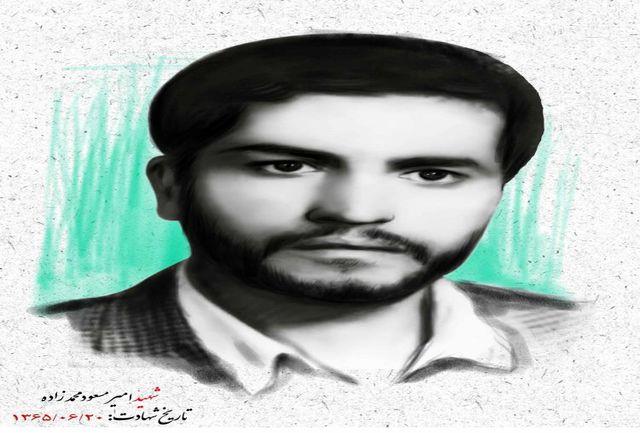 مردم همدان با پیکر شهید«امیرمسعود محمدزاده» وداع کردند