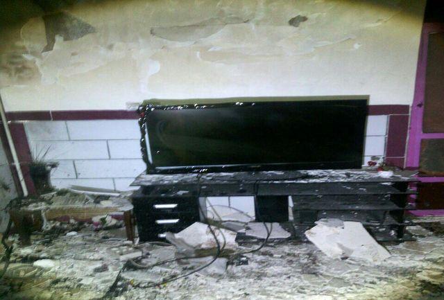حریق منزل مسکونی در اثر نشت گاز شهری
