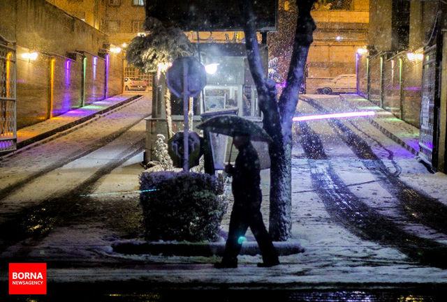 بارش برف در پنج استان کشور