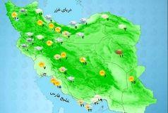 دمای هوا در استانهای شمالی کاهش مییابد