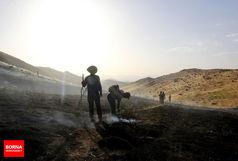 20 هکتار از مراتع طبیعی خان زنیان در آتش سوخت