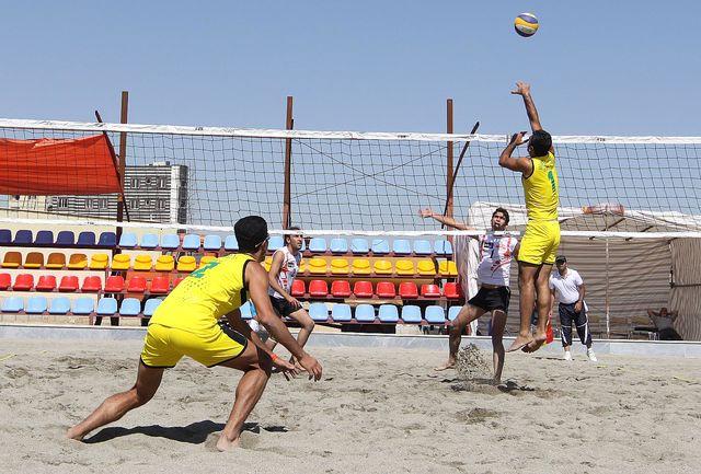 صعود تیم ملی والیبال ساحلی به نیمه نهایی