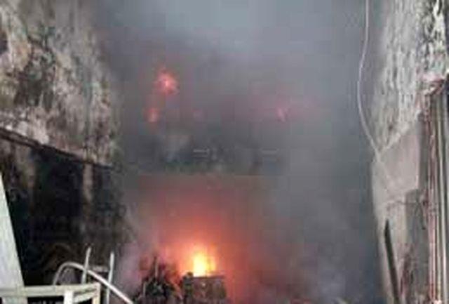 مبل سازی 200 متری در آتش سوخت