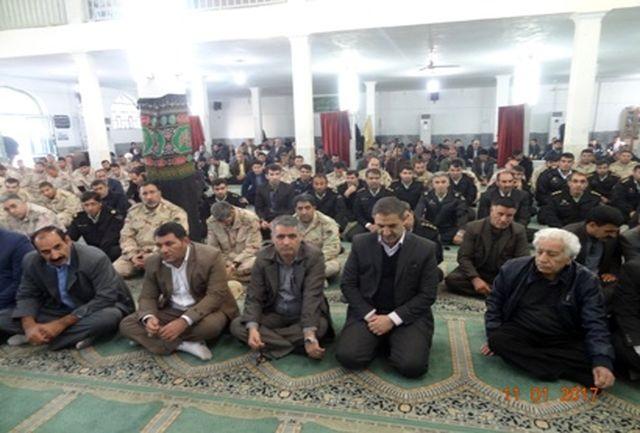 مراسم بزرگداشت حضرت آیت الله هاشمی رفسنجانی در مسجد جامع شهر مهران برگزار شد