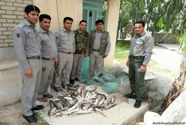 دستگیری صیادان متخلف در پلدختر