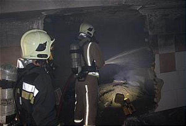 مهار آتش سوزی در کوی مدیران سمنان