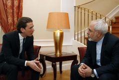 ظریف به صدر اعظم اتریش تبریک گفت