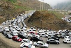 ترافیک پر حجم در باند جنوب به شمال محور کرج-چالوس