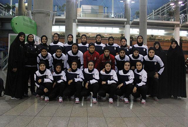 تیم ملی زیر 16 سال بانوان شب گذشته وارد ایران شد